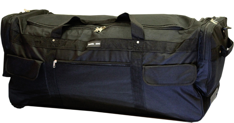 xxl sporttrolley trolley reisetasche schwarz 160 l al36 ebay. Black Bedroom Furniture Sets. Home Design Ideas