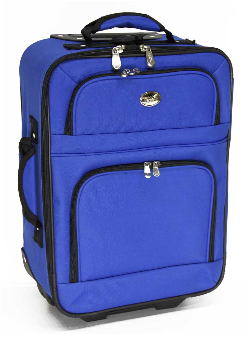 koffer trolley handgep ck reisekoffer bordgep ck reise blau 28 liter jets neu ebay. Black Bedroom Furniture Sets. Home Design Ideas