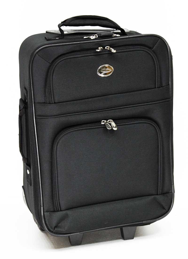 handgep ck trolley trolly reise koffer schwarz 28l jets ebay. Black Bedroom Furniture Sets. Home Design Ideas