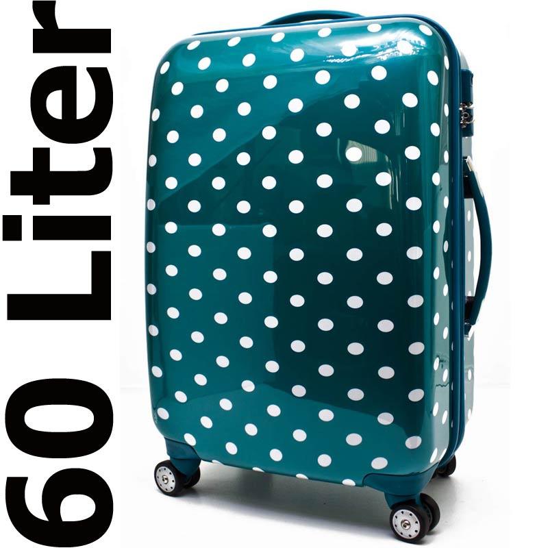 hartschalen koffer reisekoffer trolley zahlenschloss t rkis 60 l 8040 bware 5 ebay. Black Bedroom Furniture Sets. Home Design Ideas