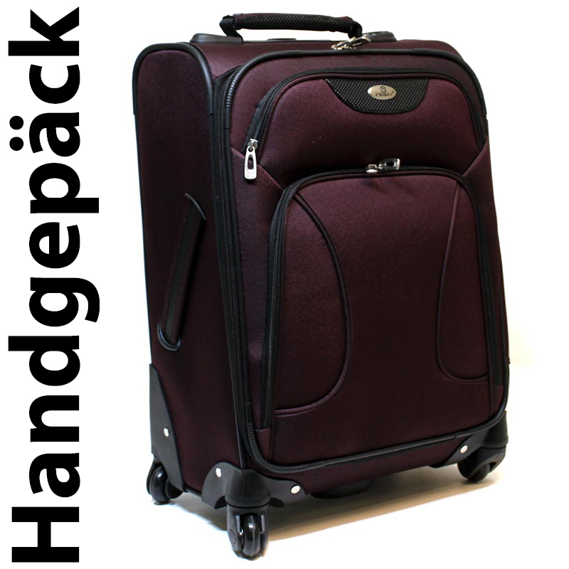 handgep ck reisekoffer koffer trolley 4 rollen 360 35 liter bordeaux rot 8800 ebay. Black Bedroom Furniture Sets. Home Design Ideas