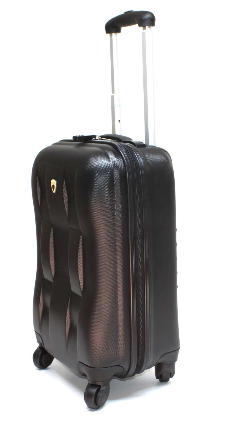 hartschalen koffer handgep ck schloss reise koffer trolley 33 l schwarz abs 9500 ebay. Black Bedroom Furniture Sets. Home Design Ideas