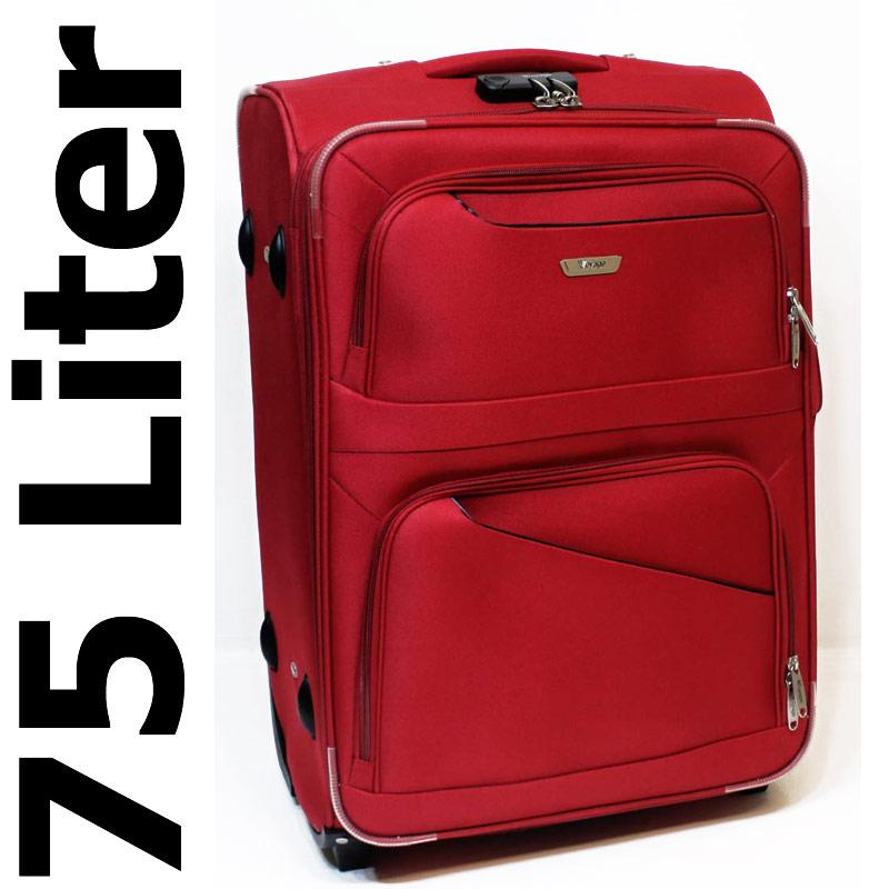 trolley reisekoffer koffer 75 liter zahlenschloss nylon rot hs 8310 ebay. Black Bedroom Furniture Sets. Home Design Ideas