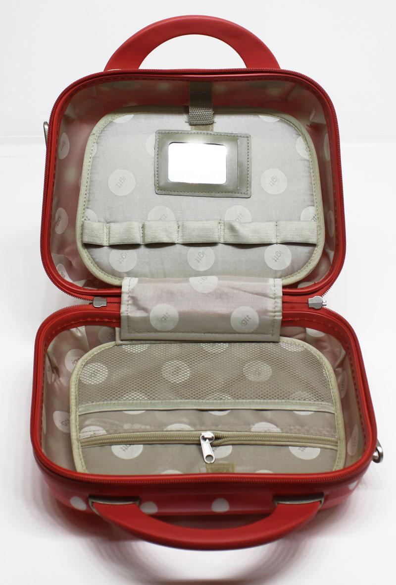 Hartschale-Beauty-Case-Erdbeer-Rot-Koffer-10-Liter-Schmink-Kosmetikkoffer-NQ8002