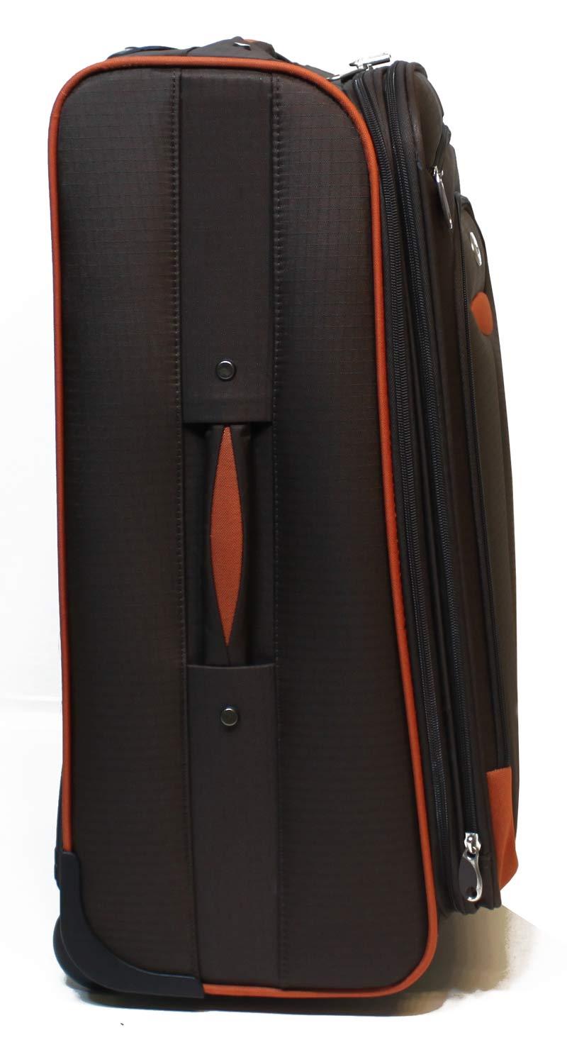xxl reisekoffer trolley koffer 150 liter schloss nylon braun lhd 088 ebay. Black Bedroom Furniture Sets. Home Design Ideas