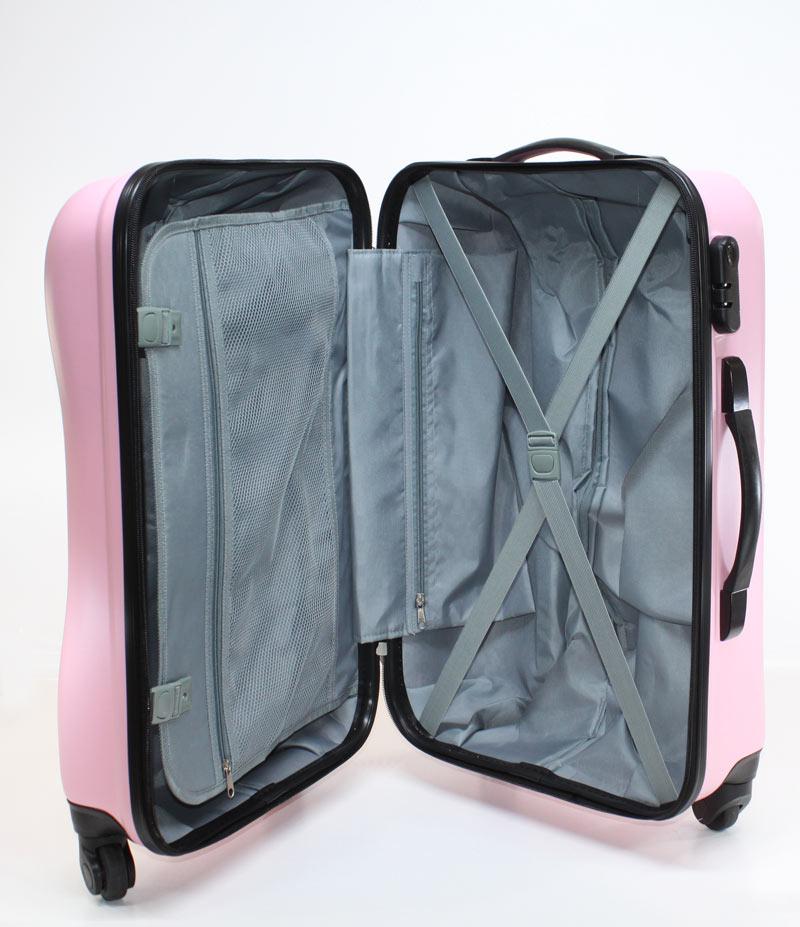 hartschalen koffer trolley reise 360 rollen 75 liter rosa pink s2012 neu ebay. Black Bedroom Furniture Sets. Home Design Ideas