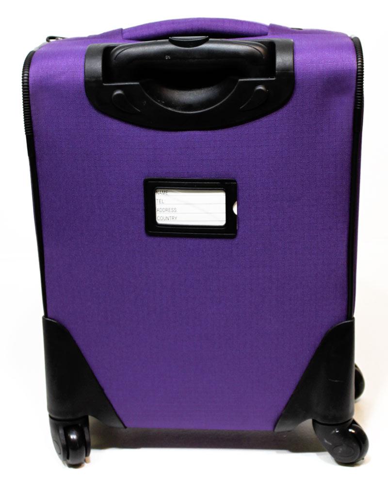 handgep ck koffer 4 rollen 360 trolley nylon lila 20 liter tr0074 bware ebay. Black Bedroom Furniture Sets. Home Design Ideas