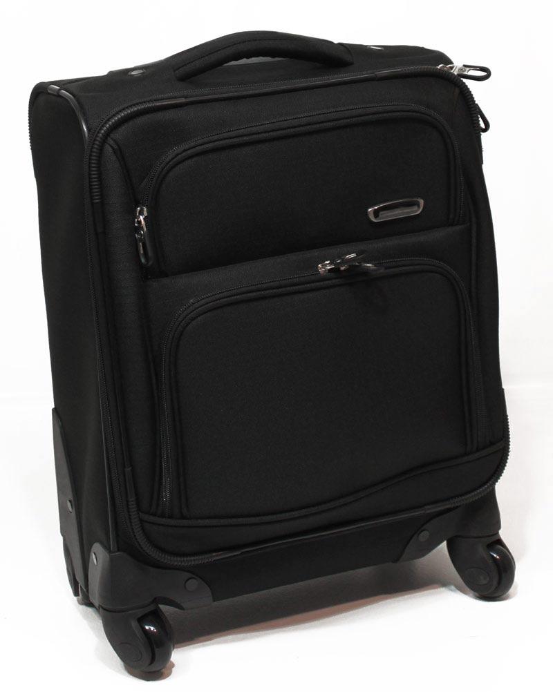 handgep ck koffer 4 rollen 360 trolley nylon schwarz 20. Black Bedroom Furniture Sets. Home Design Ideas