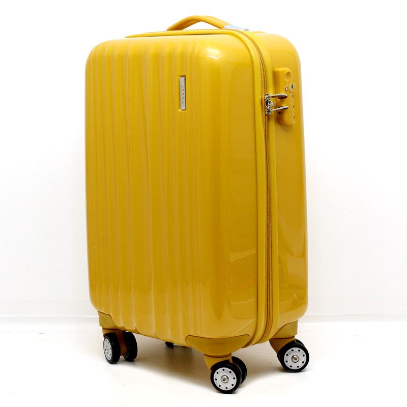 hartschale hartschalen reise koffer trolley tsa schloss 35 l gold gelb curry 810 ebay. Black Bedroom Furniture Sets. Home Design Ideas