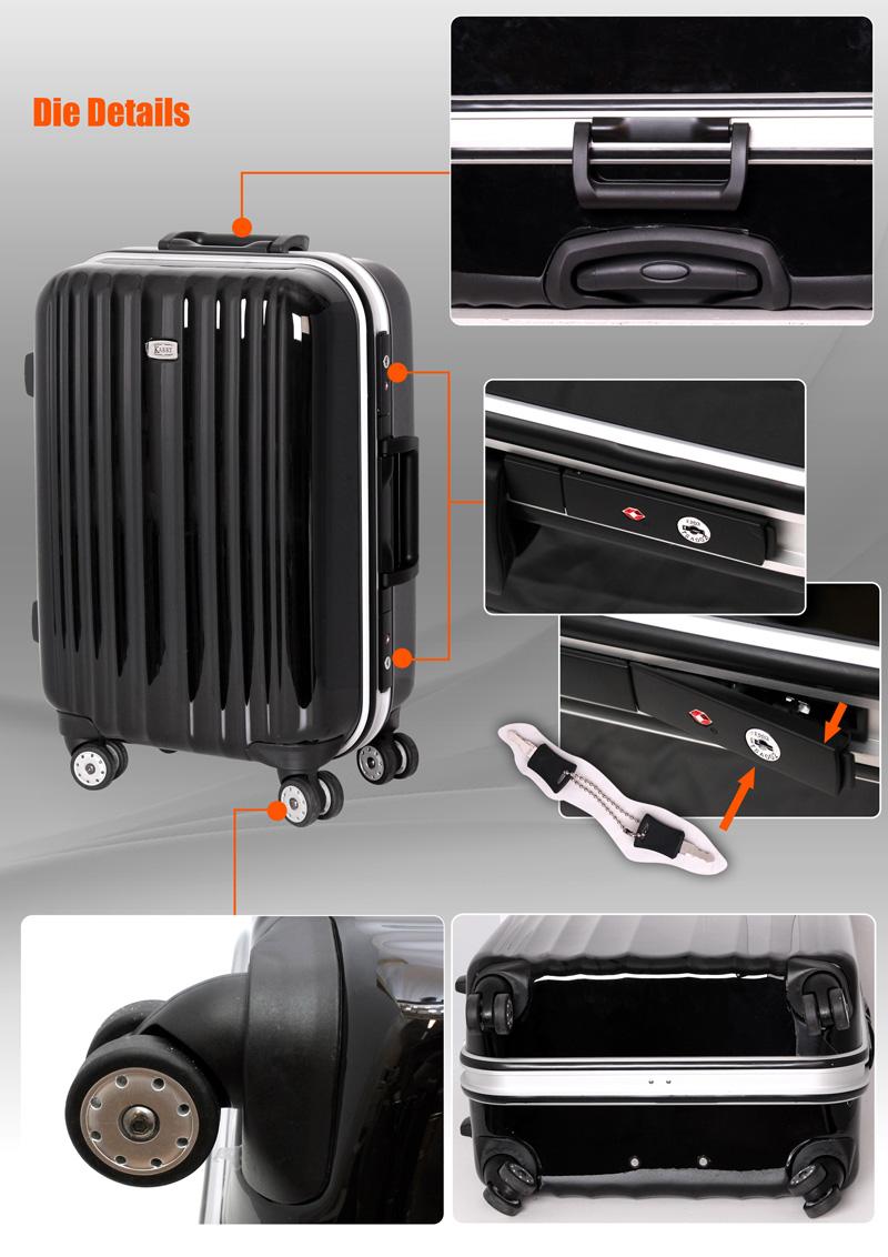 alu hartschalen reise koffer tsa schloss 40 l schwarz alu. Black Bedroom Furniture Sets. Home Design Ideas