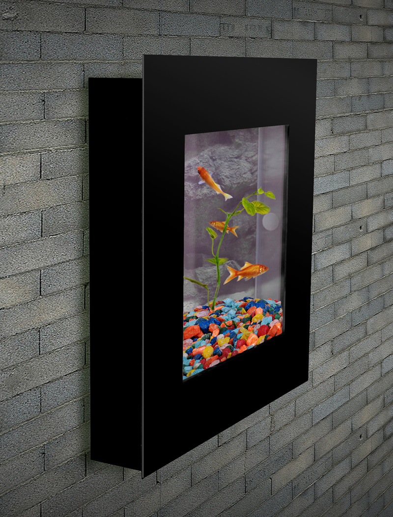 aquarium nano wandaquarium becken wand aquarium komplett set mit zubeh r ebay. Black Bedroom Furniture Sets. Home Design Ideas