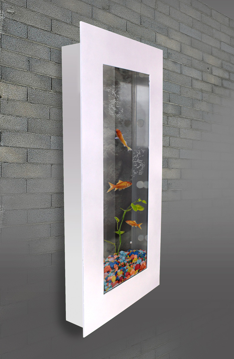 aquarium nano wandaquarium becken komplett set mit zubeh r wei lwa003 ebay. Black Bedroom Furniture Sets. Home Design Ideas