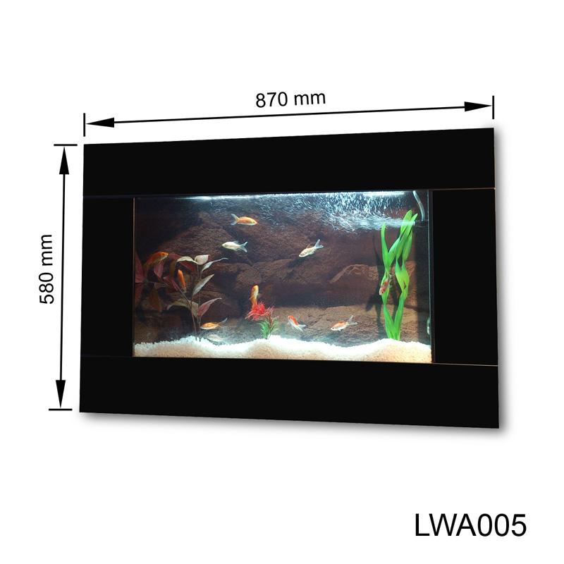 Wandaquarium-Aquarium-Nano-Becken-Wand-Aquarium-Komplett-Set-Schwarz