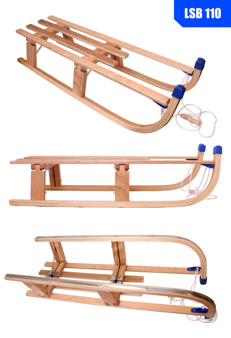 Luge En Bois Pliable : D?tails sur Luge Pliage de tra?neau Luge en Bois Pliable bois 110 cm