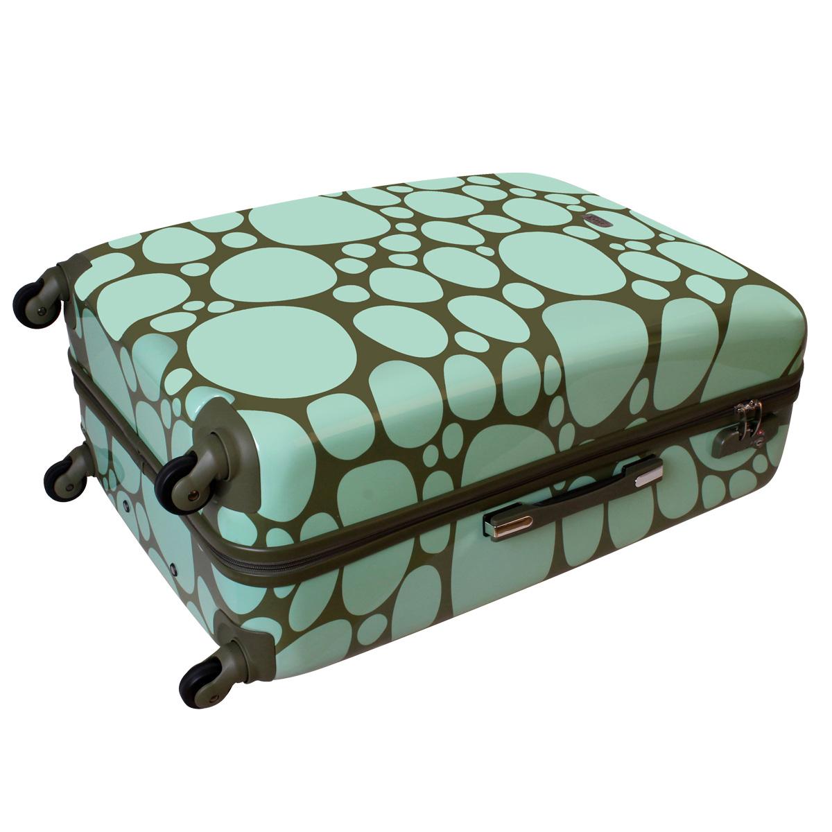 xxl hartschalen kieselsteine reise koffer 100 liter gr n. Black Bedroom Furniture Sets. Home Design Ideas