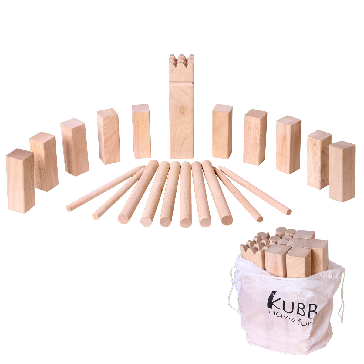 xxl wikinger strand spiel kubb wikingerspiel wurfspiel gummibaum holz ebay. Black Bedroom Furniture Sets. Home Design Ideas