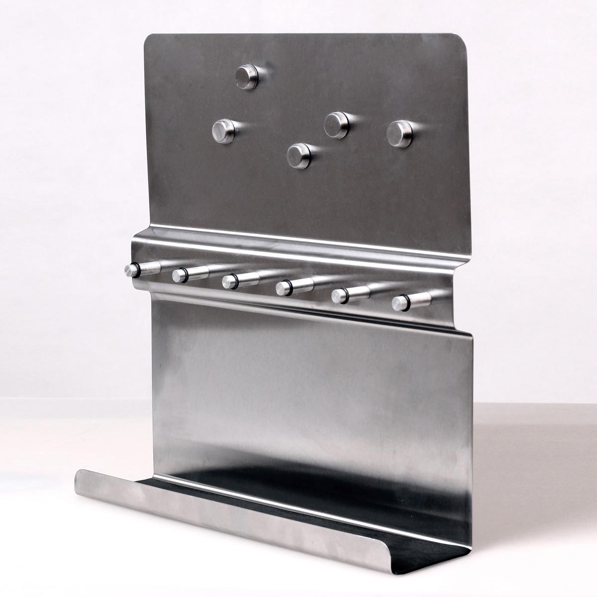 schl ssel brett edelstahl memo magnet bord ablage schl sselboard schl sselkasten ebay. Black Bedroom Furniture Sets. Home Design Ideas