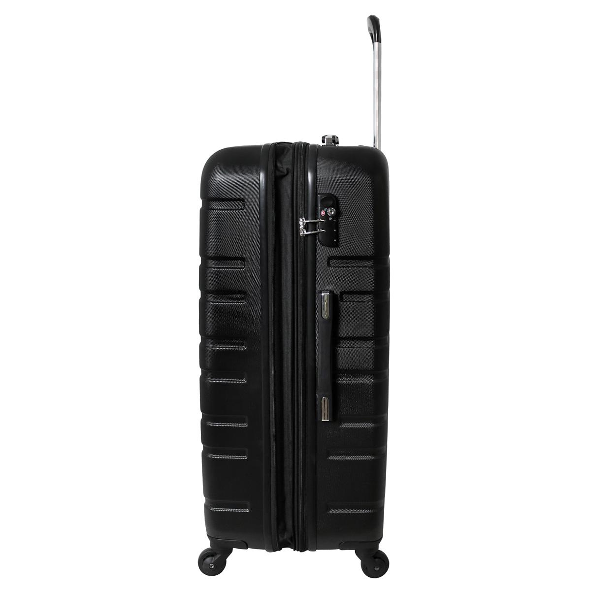 xxl hartschalen reise koffer tsa schloss 120 liter schwarz. Black Bedroom Furniture Sets. Home Design Ideas