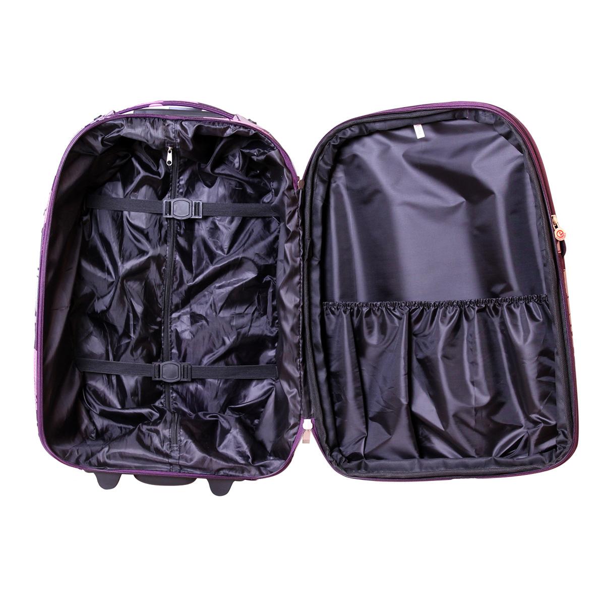 handgep ck reisekoffer trolley reise koffer hibiskus lila 38 liter nylon color3 ebay. Black Bedroom Furniture Sets. Home Design Ideas