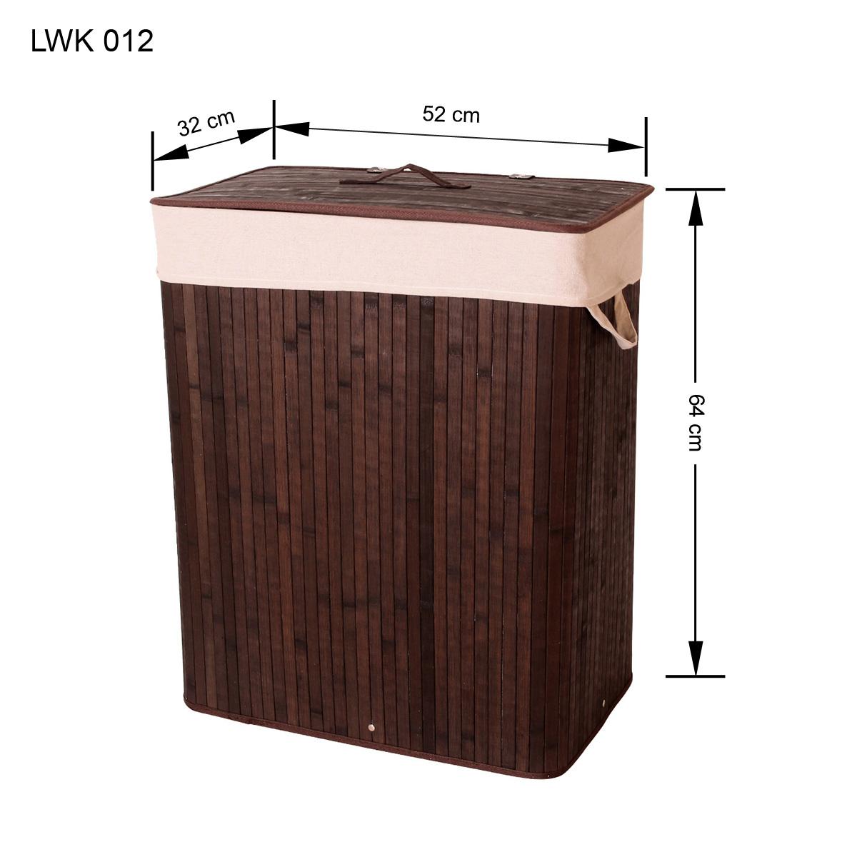 xxl bambus w schekorb w sche w schetruhe w schesammler leinen kleidersack lwk012 ebay. Black Bedroom Furniture Sets. Home Design Ideas