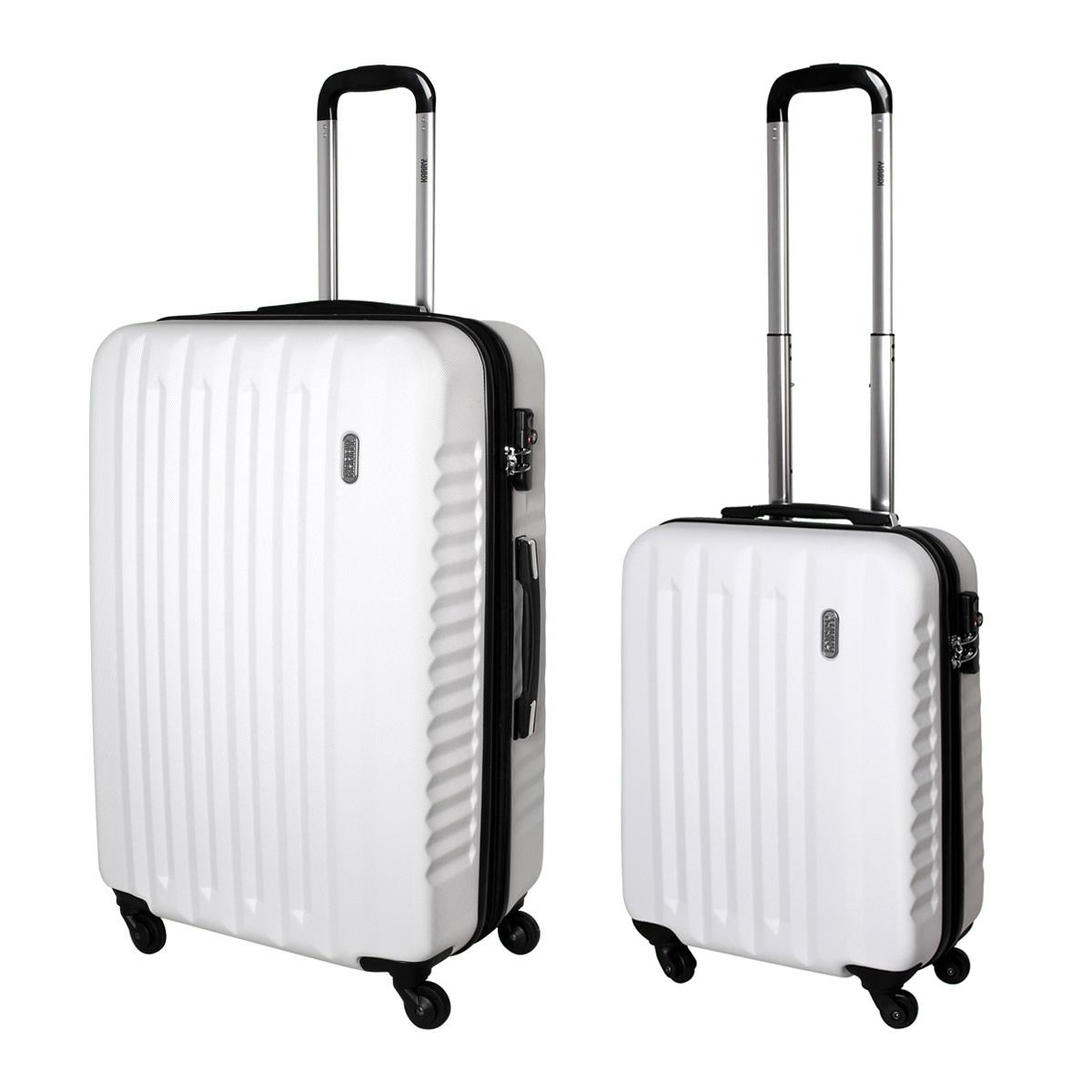 2 tlg hartschalen koffer set trolley karry handgep ck tsa schloss weiss 811 ebay. Black Bedroom Furniture Sets. Home Design Ideas