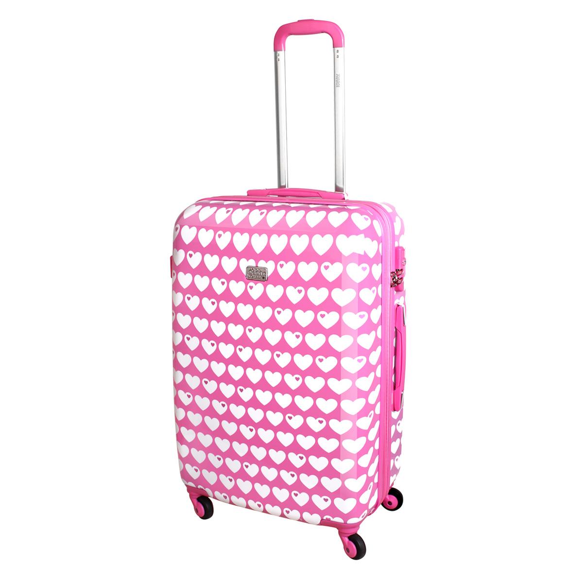 xl hartschalen reise koffer trolley tsa 80 liter herz rosa. Black Bedroom Furniture Sets. Home Design Ideas