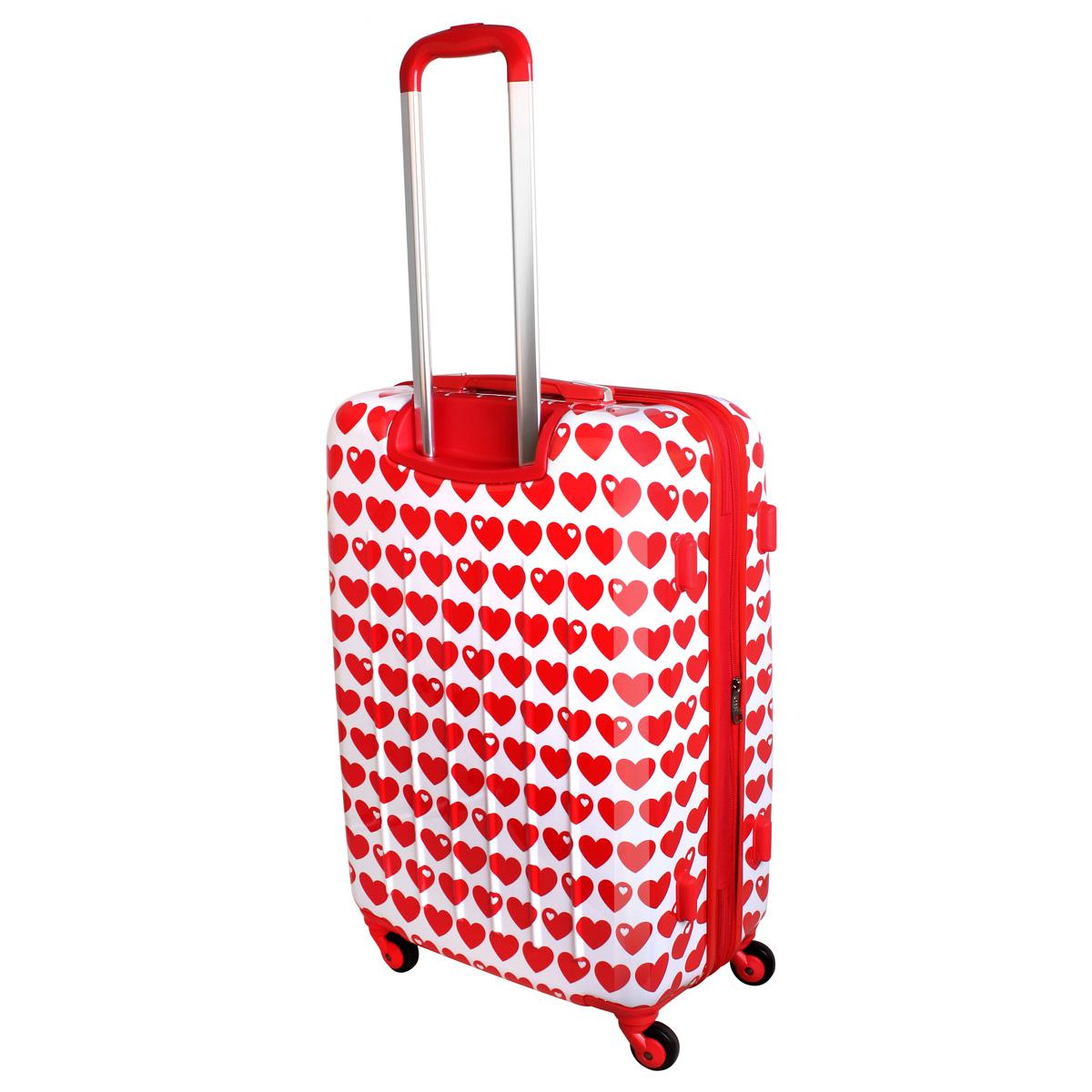 xl hartschalen reise koffer trolley tsa 80 liter herz rot. Black Bedroom Furniture Sets. Home Design Ideas